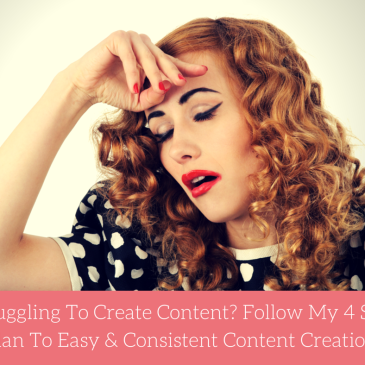 My 4 Step Plan To Easy & Consistent Content Creation!